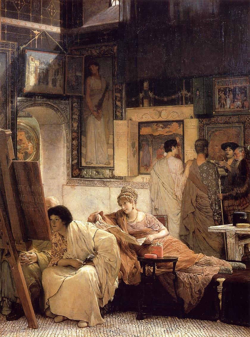 """The Picture Gallery"" (1866), by Sir Lawrence Alma-Tadema."